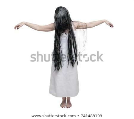 Raccapricciante zombie ragazza bianco illustrazione arte Foto d'archivio © bluering