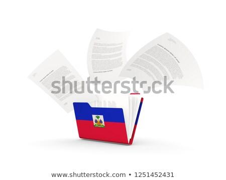 Cartella bandiera Haiti file isolato bianco Foto d'archivio © MikhailMishchenko
