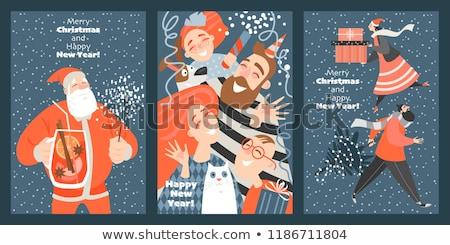 happy family set vector banner cartoon style stock photo © robuart
