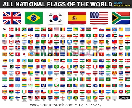 Adesivo design bandiera Australia illustrazione sfondo Foto d'archivio © colematt