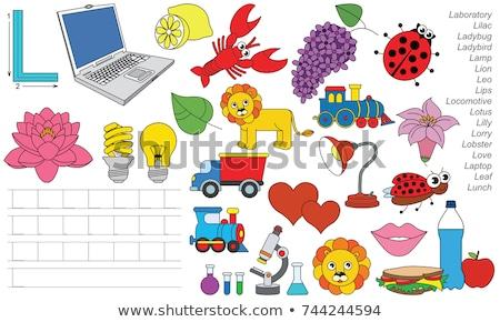 Engels · alfabet · woord · illustratie · school · onderwijs - stockfoto © izakowski