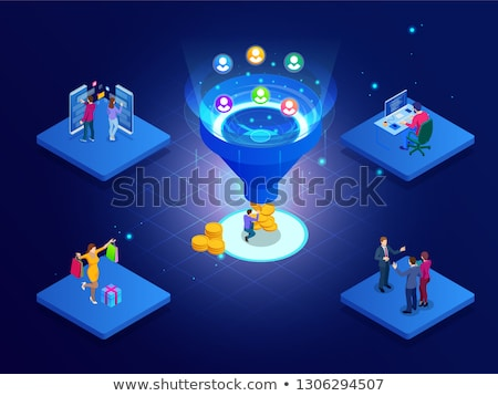 Sales pipeline management concept landing page. Stock photo © RAStudio