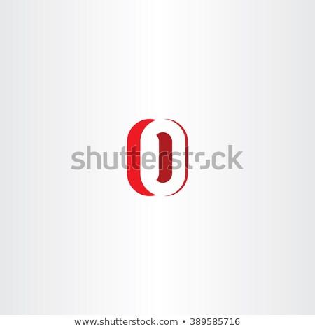 красный числа нулевой логотип икона Сток-фото © blaskorizov