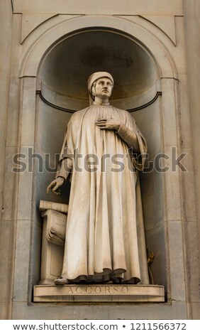 Photo stock: Writer Mariangelo Accorso Monument In Florence Italy