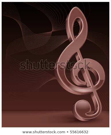 Brawn treble clef  Stock photo © creatOR76