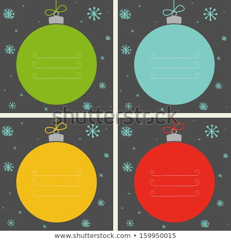 Four christmas cards with different color backgrounds Stock photo © colematt