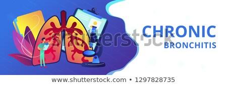 obstructive pulmonary disease concept banner header stock photo © rastudio