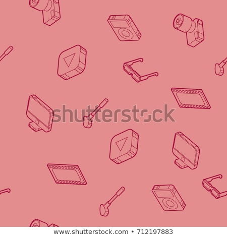 photo outline isometric icons pattern stock photo © netkov1