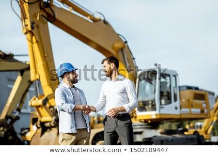 Escavatore costruttori costruzione macchine vettore pala Foto d'archivio © robuart