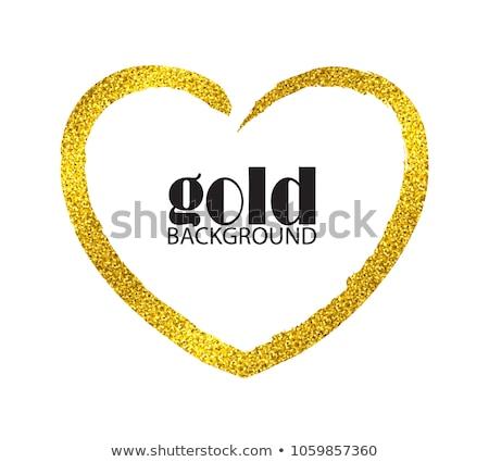 arany · szívek · dekoratív · valentin · nap · absztrakt · háttér - stock fotó © sarts