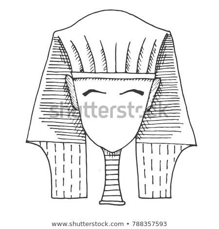 Boceto cabeza cara vector viaje muerte Foto stock © Arkadivna