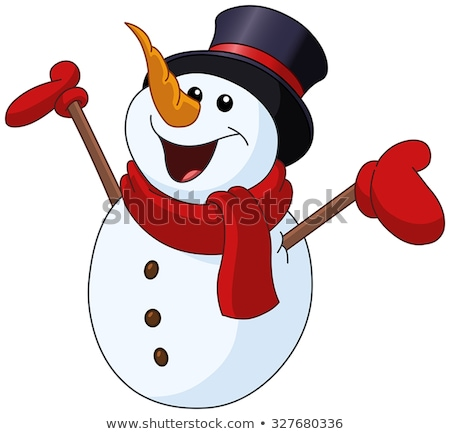 Cartoon muñeco de nieve diseno nieve Navidad Foto stock © mumut