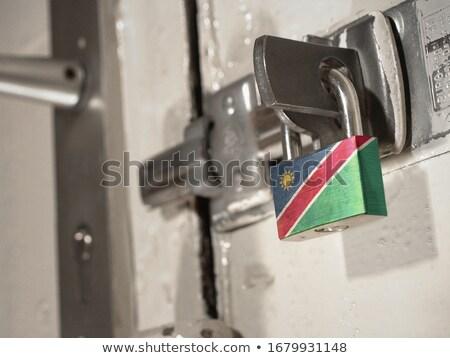 Casa bandera Namibia blanco casas Foto stock © MikhailMishchenko