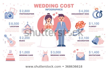 wedding flat concept icons stock photo © netkov1