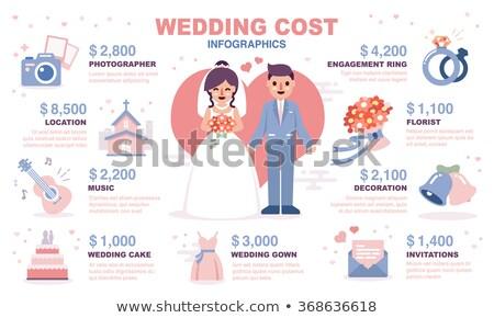 iconos · novio · novia · boda - foto stock © netkov1