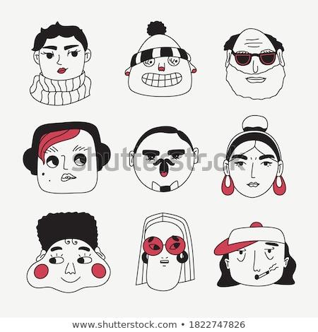 Caucasian stylist characters set Stock photo © netkov1