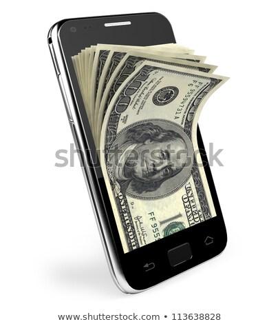 font · pénz · telefon · illusztráció · mobil · mobiltelefon - stock fotó © krisdog