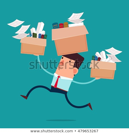 Businessman Carrying His Belongings In Office Stock photo © AndreyPopov