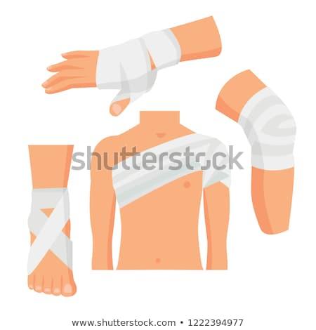 flat hand that bandaging the foot Stock photo © Olena