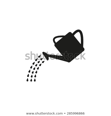 Watering can flat vector icon Stock photo © nosik