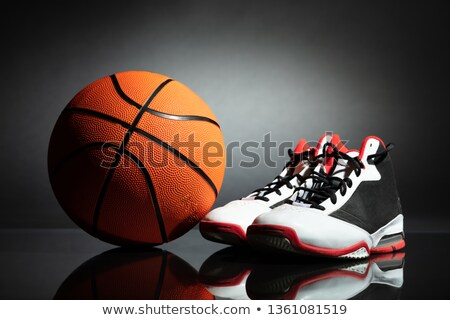 Sport Shoes And Basketball On Desk Stock photo © AndreyPopov