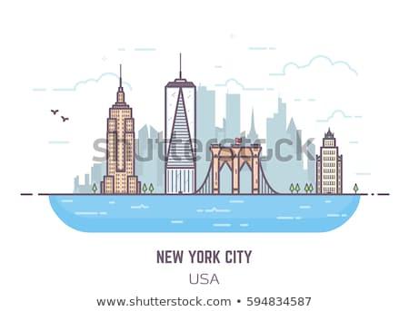 Turizmus modern színes vonal terv stílus Stock fotó © Decorwithme