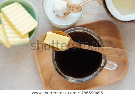 Bulletproof coffee. Ketogenic low carb drink Stock photo © furmanphoto