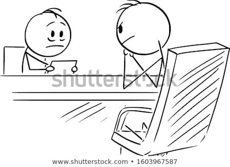 állás interjú illusztráció állásinterjú panel ázsiai Stock fotó © lenm