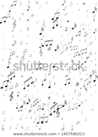 Background design with musical notes on white scales Stock photo © colematt