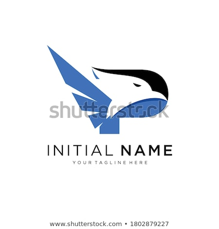Letter P and Eagle Head Logo Stock photo © krustovin
