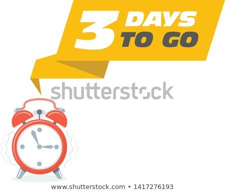 три наклейку продажи будильник баннер часы Сток-фото © Winner