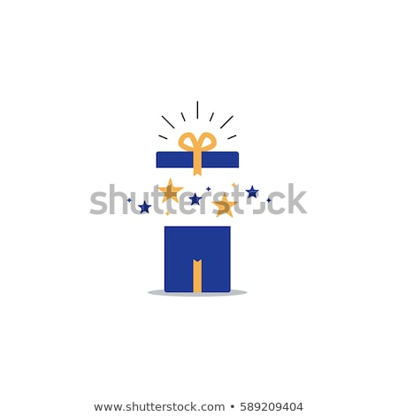 Icon of gift box which symbolizes delightful present or surprise Stock photo © ussr