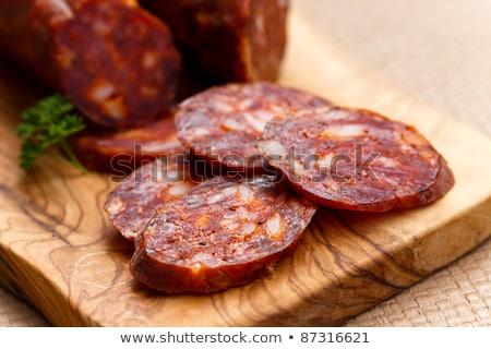 испанский чоризо колбаса овощей продовольствие Сток-фото © Melnyk