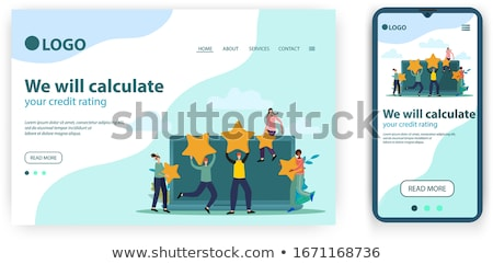 Atterrissage page gens d'affaires vote Photo stock © RAStudio