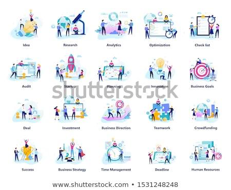 Exitoso equipo productividad trabajo de oficina establecer vector Foto stock © robuart