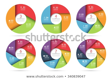 three overlapping circles infographic template for diagram graph presentation and chart business stock photo © kyryloff