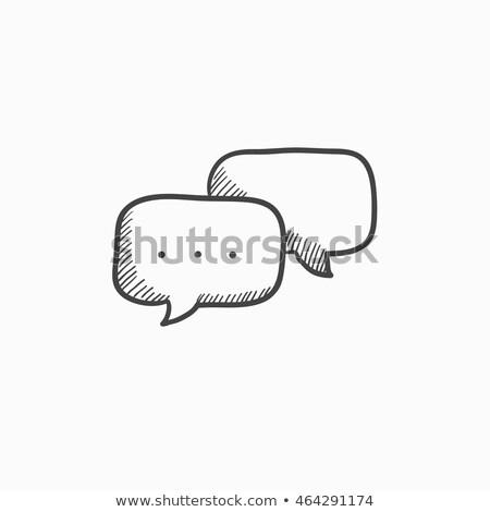 dialog · Bańka · ikona · biały · wektora - zdjęcia stock © kyryloff