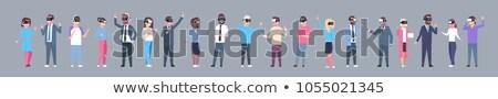 Photo stock: Gens · d'affaires · réalité · icônes · infographie · ensemble