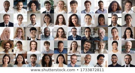 Happy young businesspeople working together Stock photo © nyul