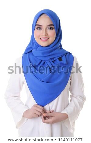 Giovani magnifico muslim donna blu hijab Foto d'archivio © pressmaster