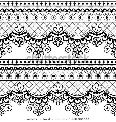 Francuski angielski koronki zestaw monochromatyczny Zdjęcia stock © RedKoala