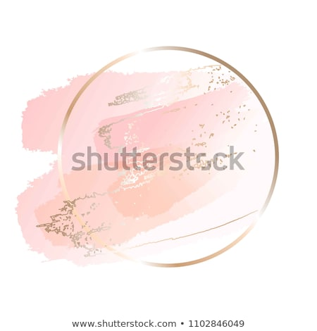 Coloured Watercolor Background. Pink and gold brush strokes Stock photo © Natalia_1947