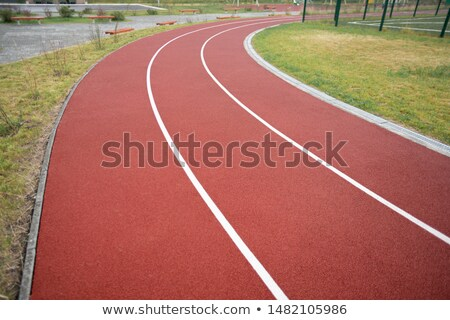 Diminishing perspective of racetrack with lines dividing it into three sections Stock photo © pressmaster