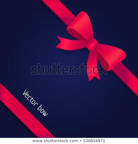 Geschenk Rood breed lint heldere boeg Stockfoto © robuart