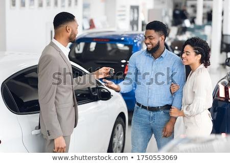 business man giving keys stock photo © wavebreak_media