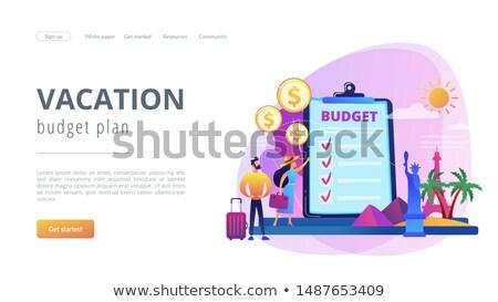 Vakáció alap leszállás oldal pár tervez Stock fotó © RAStudio