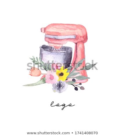 Confeitaria logotipo ilustração assinar projeto pão Foto stock © olegtoka