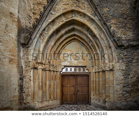 main front door of cistercian monastery stock photo © grafvision