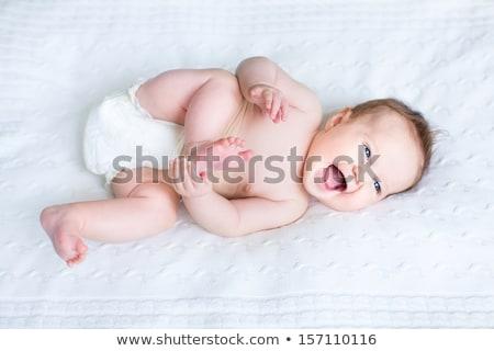Dolce piccolo baby ragazzo maglia coperta Foto d'archivio © dolgachov