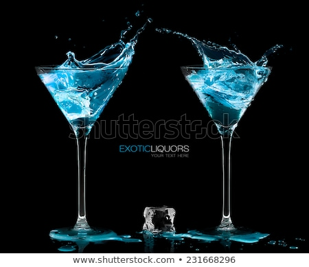 Two classic cocktail glasses stock photo © karandaev